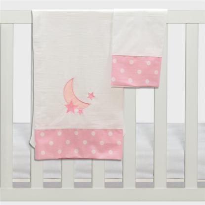 Εικόνα της Σετ σεντόνια καλαθούνας-λίκνου 3τμχ carousel ροζ