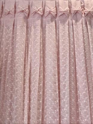 Εικόνα της Κουρτίνα Handmade Romantic Lace Pink