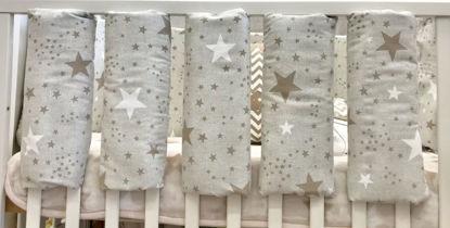 Εικόνα της Προστατευτικά Κούνιας 4 τεμάχια Handmade Twinkle Beige