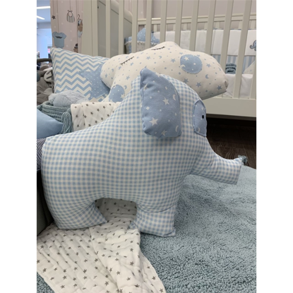Εικόνα της Μαξιλάρι Handmade Sweet Elephant Blue