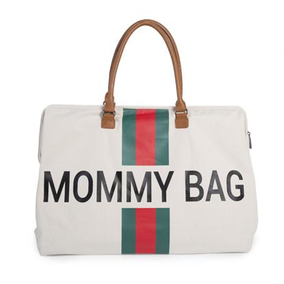 Εικόνα της Τσάντα Αλλαγής Mommy Bag Big Off WhiteStripes Green/Red