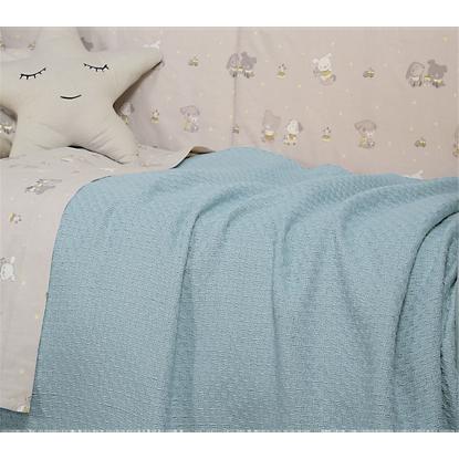 Εικόνα της ΚΟΥΒΕΡΤΑ ΒΑΜΒΑΚΕΡΗ NEF-NEF SMOOTH BLUE 80Χ110