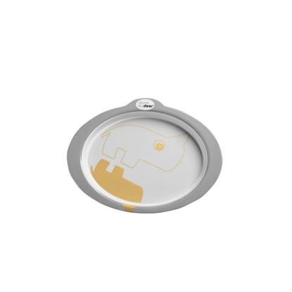 Εικόνα της Πιάτο Με Αντιολισθητικό Πάτο Contour Grey-Gold