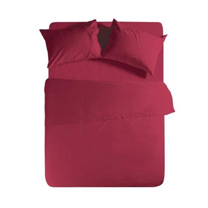 Εικόνα της Σεντόνι Μεμονωμένο Basic BORDO Μονό με λάστιχο