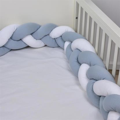 Εικόνα της Πάντα Πλεξούδα Baby Oliver Λευκό/Γκρί 2 μέτρα