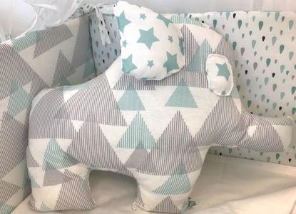 Εικόνα της Διακοσμητικό Μαξιλάρι Handmade Elephant Drops Mint