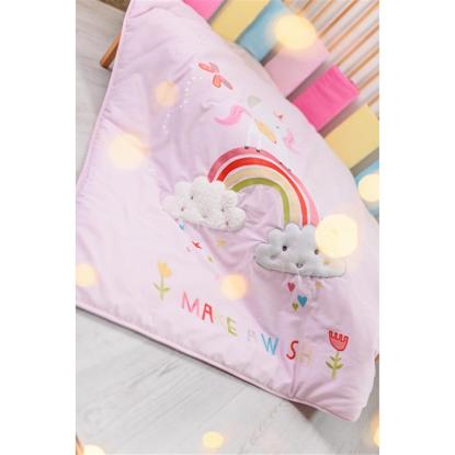 Εικόνα της Πάπλωμα Wonderland Rainbows and Unicorn