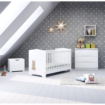 Εικόνα της Βρεφικό-Προεφηβικό Κρεβάτι Casababy Rabbit White