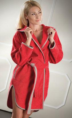 Εικόνα της Μπουρνούζι  Linda red small με κουκούλα