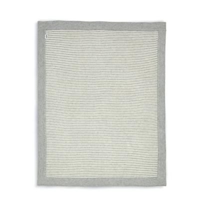Εικόνα της Κουβέρτα Πλεκτή Mamas & Papas Πλεκτή 70*90 cm Grey & White Stripe