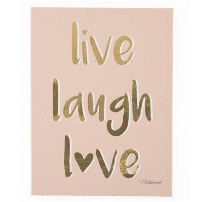 Εικόνα της Καμβάς Live Love Laugh