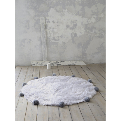 Εικόνα της Στρογγυλό Χαλί Fluffy - Gray
