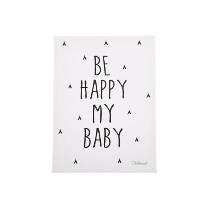 Εικόνα της Kανβάς Be Happy My Baby Black & White