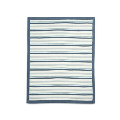 Εικόνα της Κουβέρτα Πλεκτή Mamas & Papas Blue Stripe