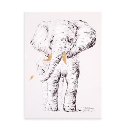 Εικόνα της Κάδρο Ελέφαντας Gold 30*40cm