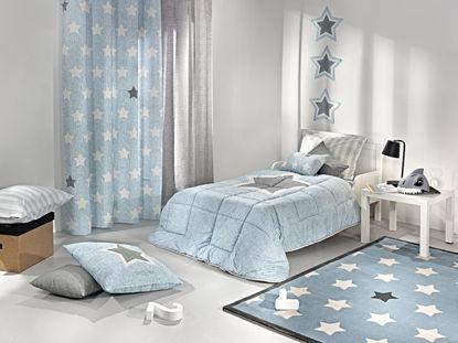 Εικόνα της Κουρτίνα Saint Clair  PIRINEO BLUE 165X250