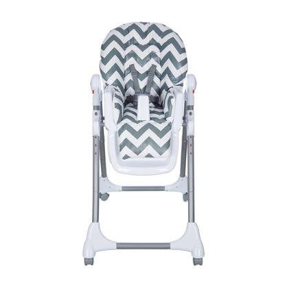 Εικόνα της Κάθισμα Φαγητού Baby Adventure Chevron Grey