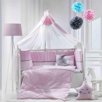 Εικόνα της Σετ προίκας 9τμχ Carousel ροζ