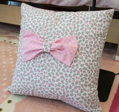 Εικόνα της Μαξιλάρι Διακοσμητικό Handmade Floral Bow