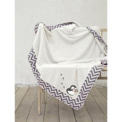 Εικόνα της Κουβέρτα Βρεφική Pingui Ecru-Grey-Pink Nima 110X140