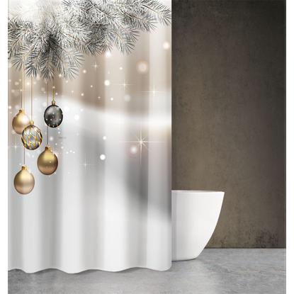 Εικόνα της Κουρτίνα Μπάνιου CHRISTMAS DES 408 180X200
