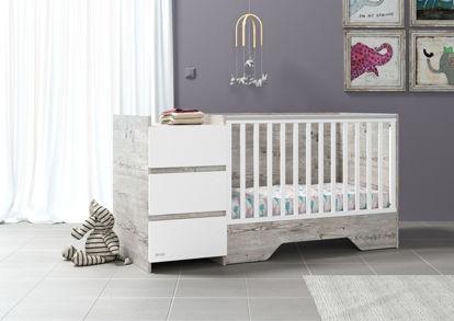 Εικόνα της Πολυμορφικό κρεβάτι Combo Aged-White