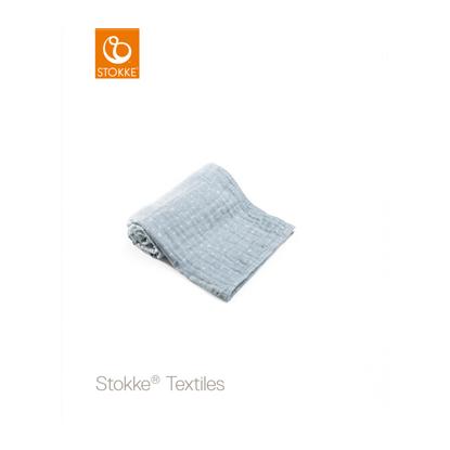 Εικόνα της Stokke Blanket Muslin Cotton κουβέρτα μουσελίνα Blue Slate Sea
