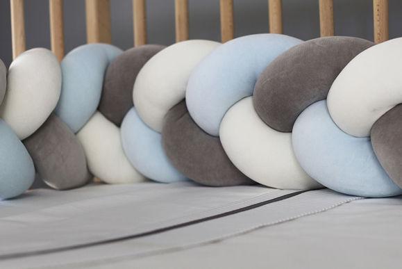 Εικόνα της Πλεξούδα πάντα | Nany White-Light Blue-Grey 220×18