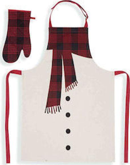 Εικόνα της Χριστουγεννιάτικο Σετ Κουζίνας (2 Τμχ) Nef Nef Scurf Grey/Red