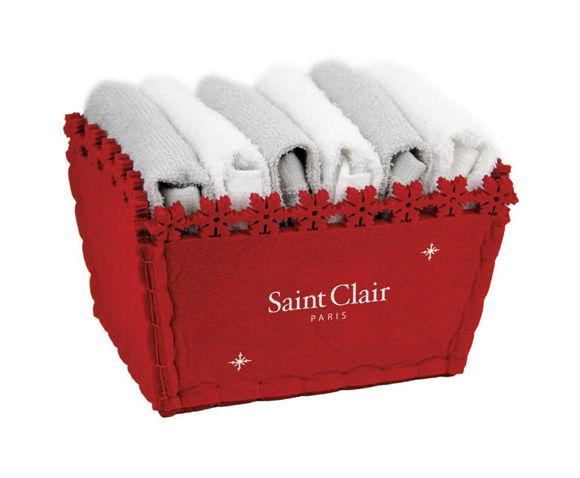 Εικόνα της Πετσέτες (Σετ 6 Τμχ) Guest Christmas Saint Clair Grey