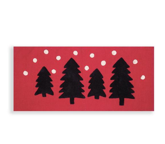 Εικόνα της Χριστουγεννιάτικο Χαλί Διαδρόμου 65x130 Nef Nef Christmas Forest Red
