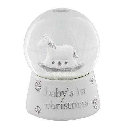 """Εικόνα της Διακοσμητική Χιονόμπαλα """"Τα Πρώτα Μου Χριστούγεννα"""""""