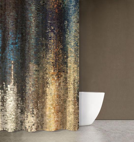 Εικόνα της Κουρτίνα Μπάνιου Saint Clair Abstract Des101 180X200