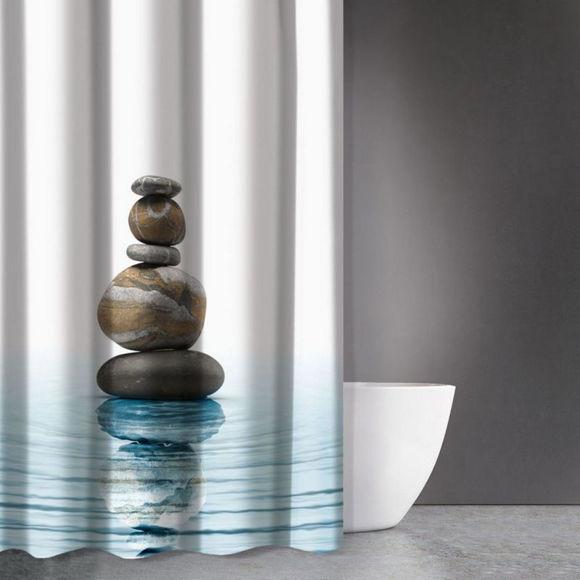 Εικόνα της Κουρτίνα Μπάνιου Zen Body Des 802 Multi Saint Clair 180x200cm