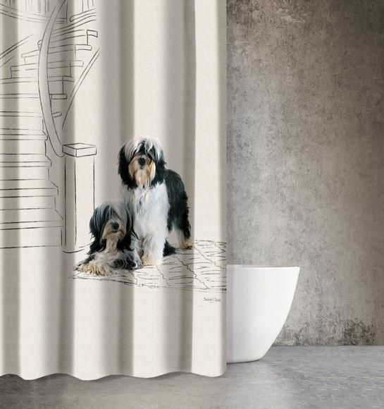 Εικόνα της Saint Clair Κουρτίνα Μπάνιου 180x200 Animals Des 207