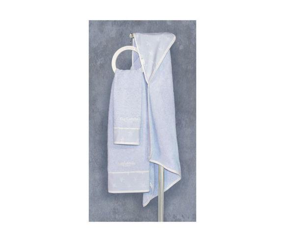 Εικόνα της Guy Laroche Heaven light blue βρεφικές πετσέτες 2 τεμ