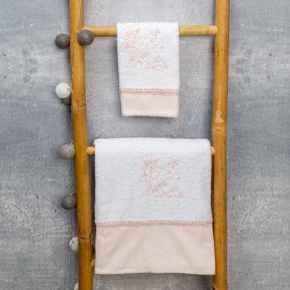 Εικόνα της Σετ πετσέτες 2 τεμάχια Fairytale ροζ