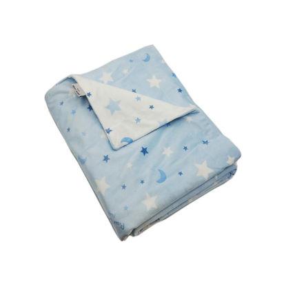 Εικόνα της Κουβέρτα Βρεφική Ισπανίας Soft Plus Moon Blue Pierre Cardin 80X110