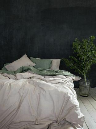 Εικόνα της Nima Παπλωματοθήκη Μονή 160x240 Colors Camel Beige / Sage Green