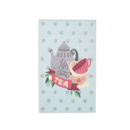 Εικόνα της Ποτηροπανο Lets Have Some Tea 40Χ60 Aqua Nef-Nef 40X60