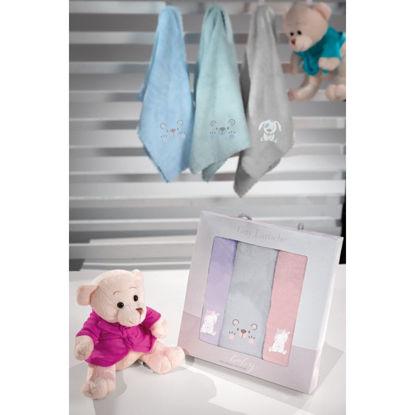 Εικόνα της Σετ Βρεφικές Πετσέτες 3 Τεμαχίων Guy Laroche Baby Girl 40x60
