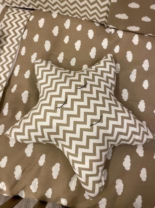 Εικόνα της Διακοσμητικό μαξιλάρι Αστέρι Handmade Clouds Moka