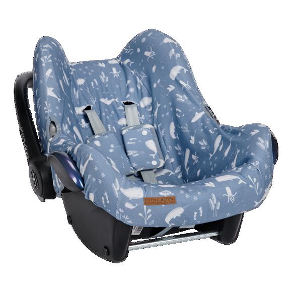 Εικόνα της LITTLE DUTCH Κάλυμμα για κάθισμα αυτοκινήτου 0+ Ocean Blue