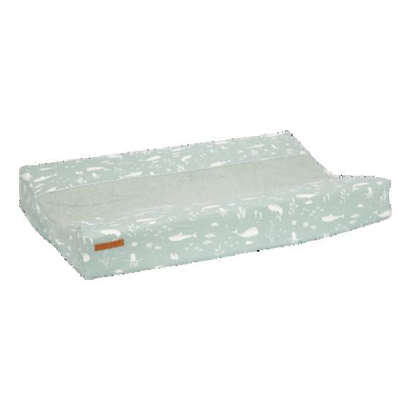 Εικόνα της LITTLE DUTCH. Κάλυμμα μαξιλαριού αλλαξιέρας Ocean Mint 44Χ68/72