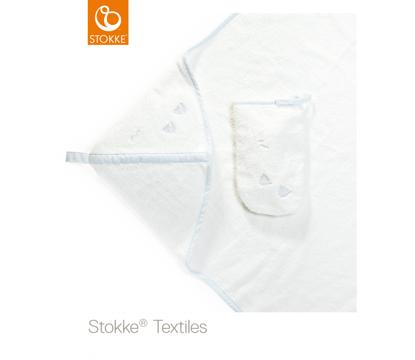 Εικόνα της Stokke hooded towel πετσέτα με κουκούλα blue sea organic cotton