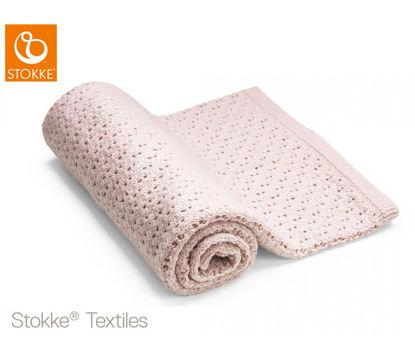 Εικόνα της Stokke Blanket Merino Wool μάλινη κουβέρτα Pink