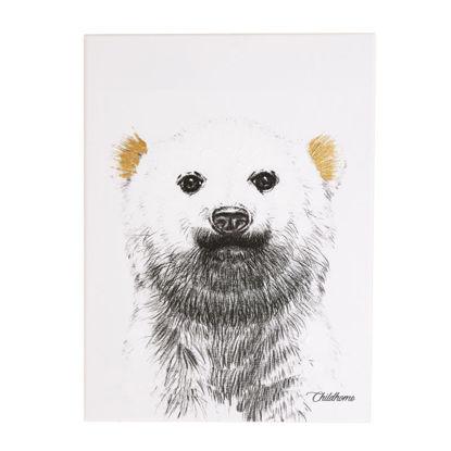 Εικόνα της Κάδρο Polar Bear Childhome Gold 30*40cm