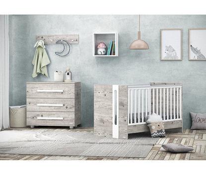 Εικόνα της Hugo βρεφικό κρεβάτι μετατρεπόμενο σε προεφηβικό