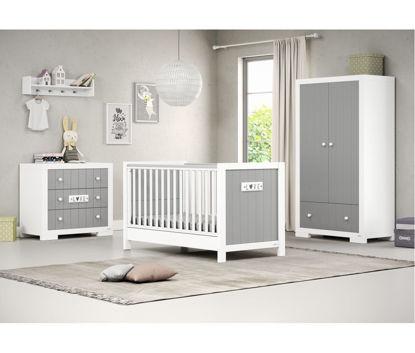 Εικόνα της Βρεφικό-Προεφηβικό Κρεβάτι Casababy Petit Grey