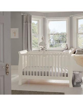 Εικόνα της Σετ Κρεβάτι Σιφινιέρα Mamas & Papas Mia Sleigh White